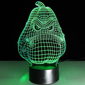 3D Halloween Funny Potato Shape Touch Colorful Night Light - TRANSPARENT