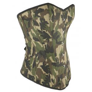 Camo Lace Up Steel Boned Strapless Corset Top - CAMOUFLAGE 3XL