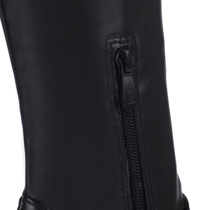 Stiletto Heel PU Leather Thigh Boots - BLACK 37