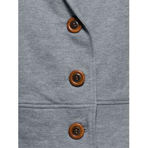 Hooded Button Up Coat -