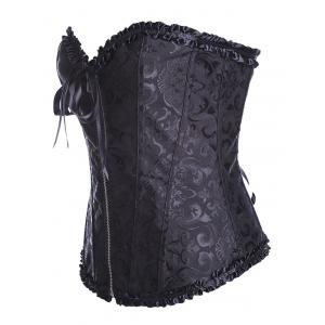Vintage Lace Up Zipped Corset -