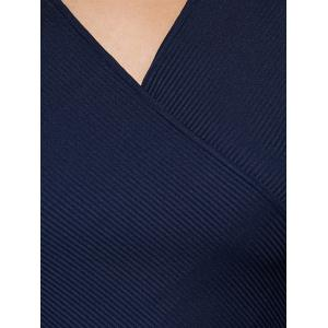Ribbed Surplice Blouse -