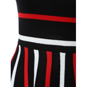 Stretchy Striped Knitted Dress -