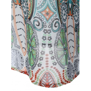 Tribal Print Tied-Up Chiffon Dress -