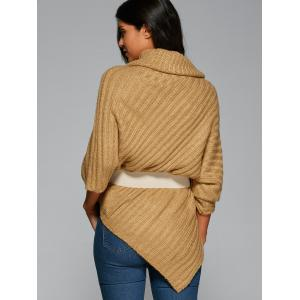 Cowl Neck Poncho Sweater -