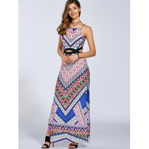 Aztec Cut Out Maxi Dress -