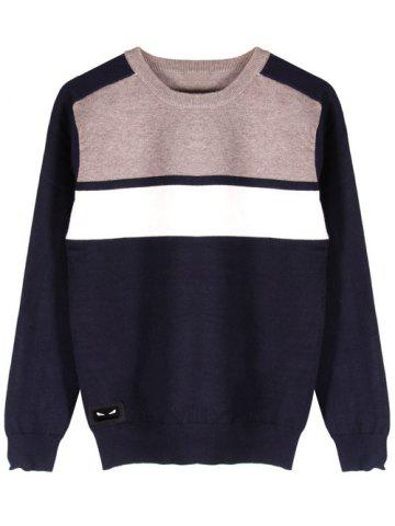 Affordable Ribbed Hem Long Sleeve Crew Neck Sweater