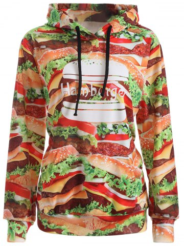Outfit Pullover Hamburger 3D Print Hoodie