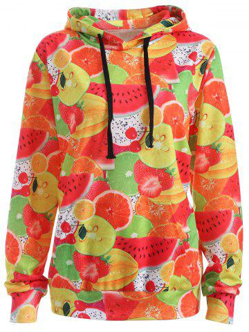 Chic Pullover Fruit 3D Print Hoodie