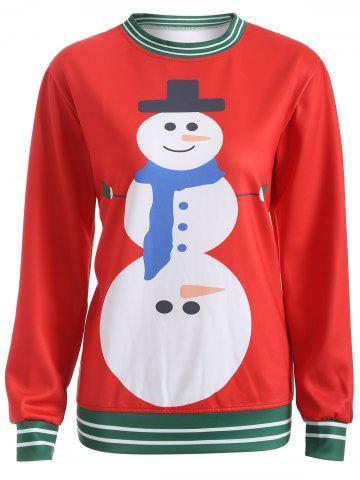 Outfits Pullover Snowman 3D Print Christmas Sweatshirt