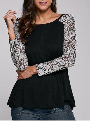 Affordable Lace Sleeve Blouse