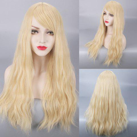 Hot Long Fluffy Side Bang Slightly Curled Lolita Cosplay Synthetic Wig