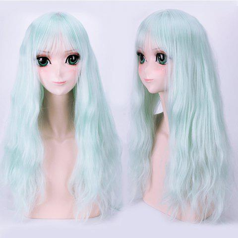 Best Long Fluffy Full Bang Slightly Wavy Lolita Cosplay Harajuku Synthetic Wig
