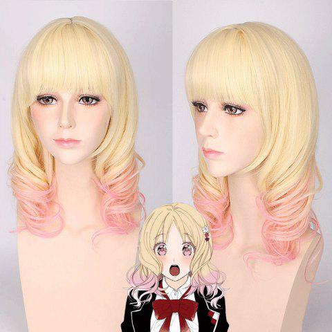 Shop Komori Yui Diabolik Lovers Cosplay Medium Full Bang Curly Synthetic Wig