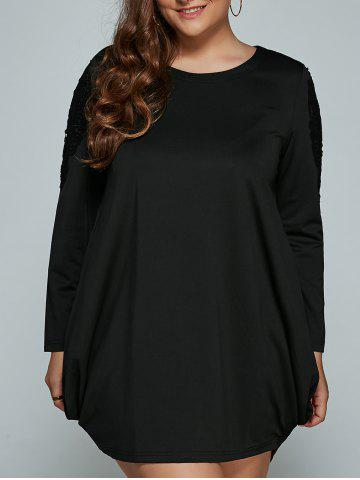 Long Sleeve Mini Plus Size Lantern Dress