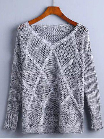 Store Hollow Out Rhombus Pullover Knitwear