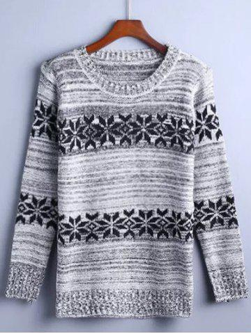 Affordable Flower Jacquard Pullover Sweater