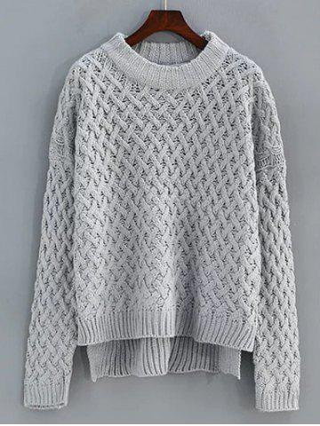 Hot Cable Knit High Low Sweater