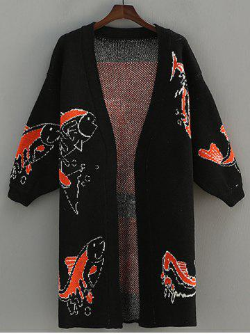 Shop Fish Pattern Jacquard Cardigan