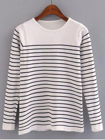 New Stripe Pattern Pullover Sweater