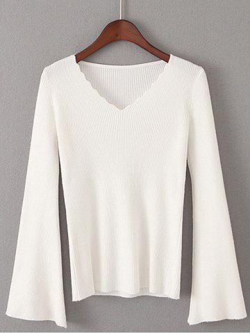 Buy Flare Sleeve Pullover Sweater
