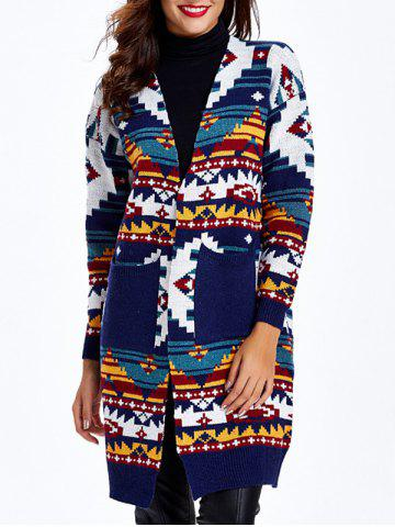 Sale Geometric Pocket Knitted Cardigan