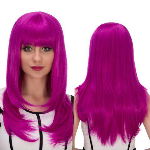Shops Long Full Bang Layered Tail Adduction Cosplay Synthetic Wig