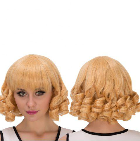 Sale Sparkling Short Curly Full Bang Cosplay Synthetic Wig