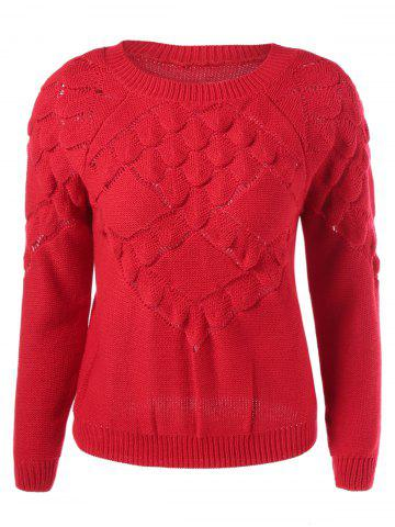 Shops Scalloped Textured Knit Sweater