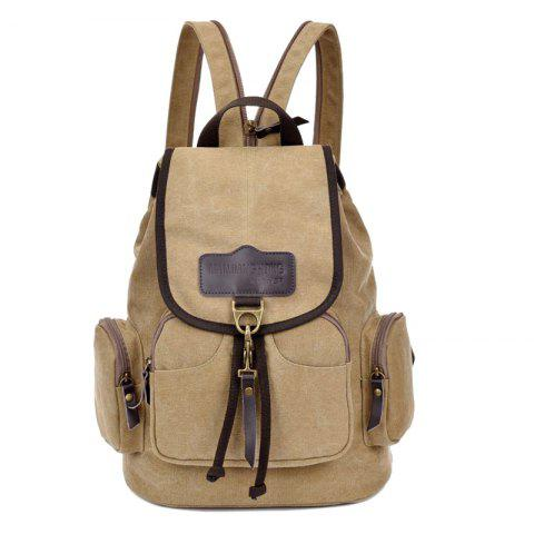 Outfits Canvas Drawstring Zippers Backpack