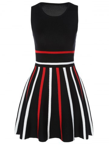 Affordable Stretchy Striped Knitted Dress