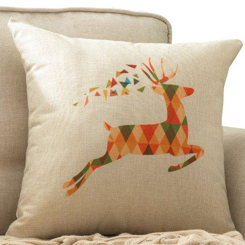 Buy Colorful Milu Deer Printed Car Cushion Home Decor Pillow Case COLORMIX