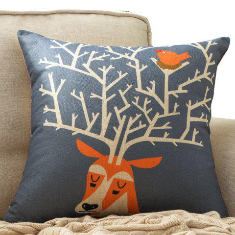 Hot Deer Horns Printed Car Cushion Home Decor Pillow Case