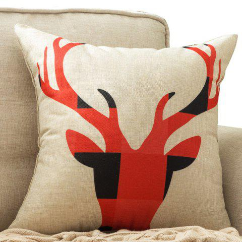 Latest Abstract Deer Head Printed Car Cushion Home Decor Pillow Case