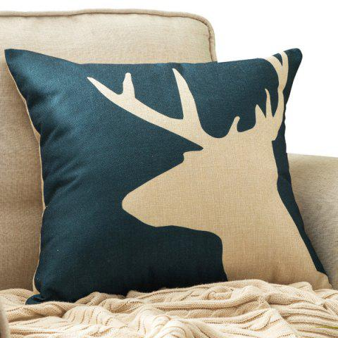 Affordable Deer Head Printed Car Cushion Home Decor Pillow Case