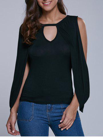 Shop Cold Shoulder Cape Sleeve Blouse