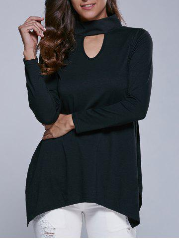 Affordable Cut Out Side Slit Blouse