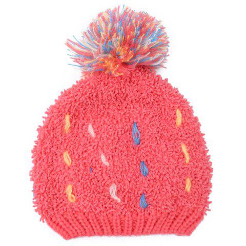 Hot Winter Casual Colorful Woolen Yarn Ball Thicken Knit Beanie