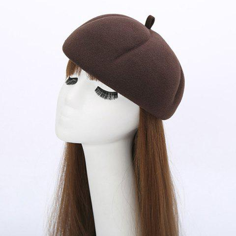 New Casual Retro Pumpkin Shape Felt Artist Beret French Hat