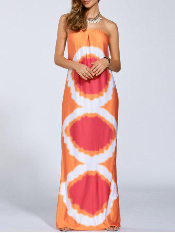Cheap Aztec Strapless Maxi Dress