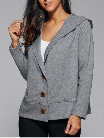 Fancy Hooded Button Up Coat