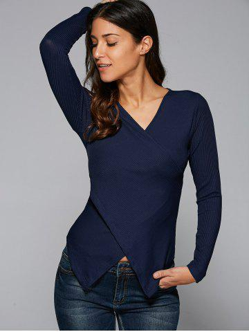 Store Ribbed Surplice Blouse