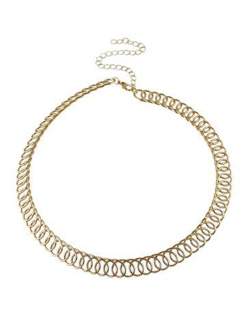 Online Alloy Circle Chain Choker Necklace