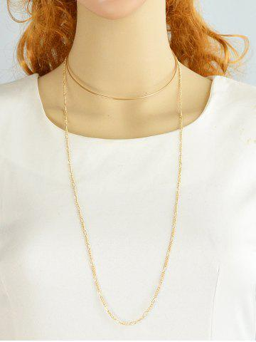 Affordable Alloy Circle Embellished Chain Choker GOLDEN