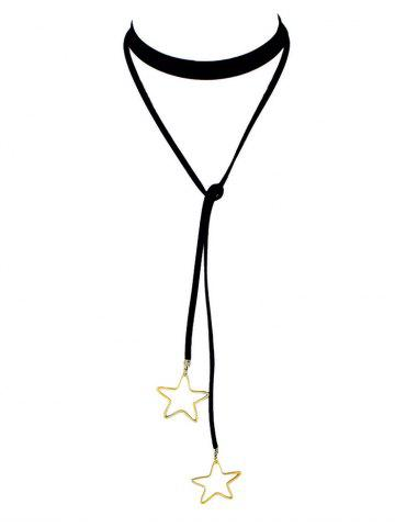 Chic Faux Leather Velvet Star Choker Necklace
