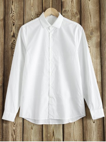 Affordable Topstitched Button Up Shirt