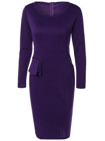 Outfits Long Sleeve Knee Length Pencil Tight Dress