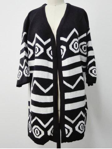Knitted Two Toned Striped Cardigan