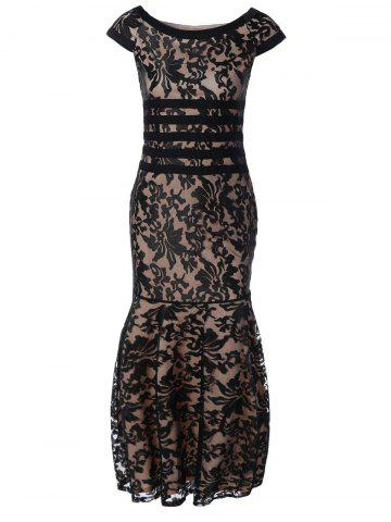 Best Tight Lace Fitted Maxi Prom Evening Dress