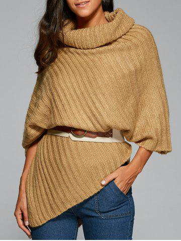Chic Cowl Neck Poncho Sweater